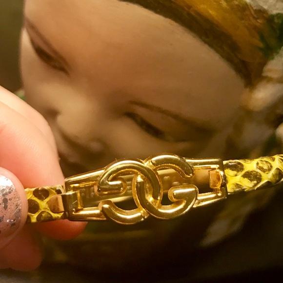 6240d16c7 Gucci Jewelry | Vintage 80s Gg Snakeskin Bangle 14k Gold Pla | Poshmark